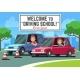 Driving School Vector Background