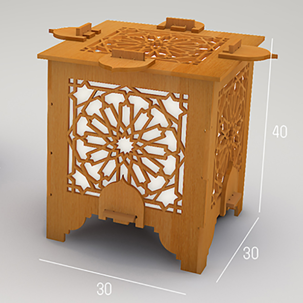 3DOcean Islamic lantern cnc drawing 19983335