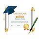 Graduated Cap Student and Roll Certificate