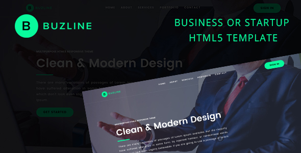 BUZLINE HTML5 Responsive Business Or Startup Template