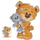 Brown Teddy Bear Hugging