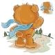 Brown Teddy Bear Sad Waving