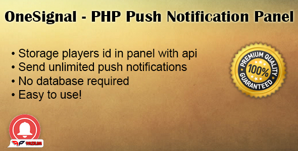 OneSignal PHP Push Notification Panel