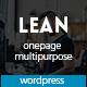 Lean - One Page Portfolio WordPress Theme