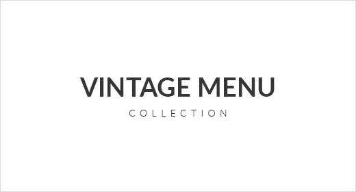 Retro and Vintage Food Menu Collection