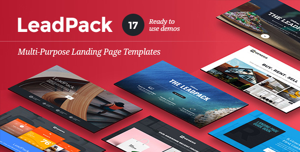 LeadPack - Multi-Purpose Landing Pages