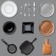 Vector Set of Kitchen Tools