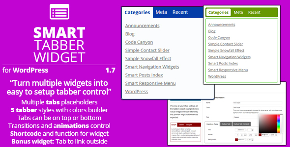 Smart Tabber Widget - CodeCanyon Item for Sale
