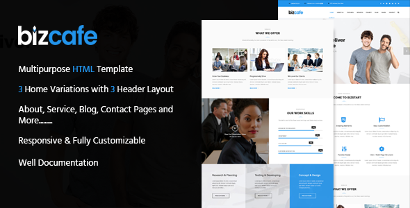 Bizcafe Corporate HTML Template (Organization)