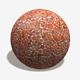 Orange Stone Mosaic Decoration Texture
