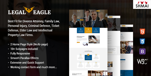 Download Legal Eagle – Attorney & Lawyer HTML5 Template