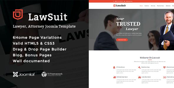LawSuit - Lawyer, Attorney Joomla Template