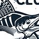 Fishing Vector Logo. Blue Marlin or Swordfish icons.