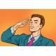 Businessman Salutes Subordination