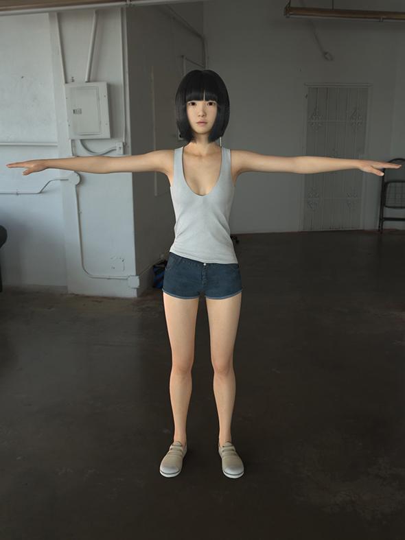 3DOcean Asian girl wear casual clothes 19988208