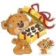 Vector Illustration of a Brown Teddy Bear Treats