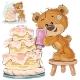 Vector Illustration of a Brown Teddy Bear