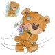 Vector Illustration of a Brown Teddy Bear Carries