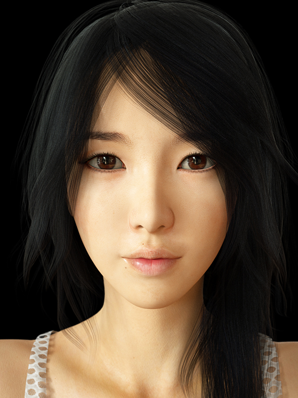 Realistic Asian Beauty - 3DOcean Item for Sale