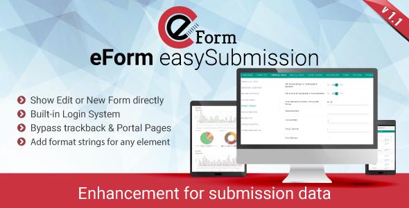 eForm easySubmission - Direct Form Edit & Extended Format String - CodeCanyon Item for Sale