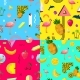 Decorative Colorful Seamless Patterns Set