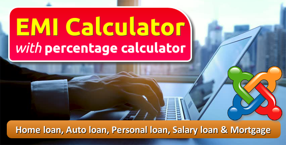 EMI Calculator with Percentage Calculator for Joomla