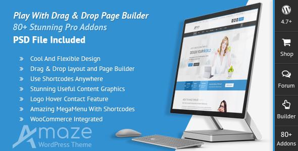 Amaze - Corporate Responsive Multi-Purpose WordPress Theme