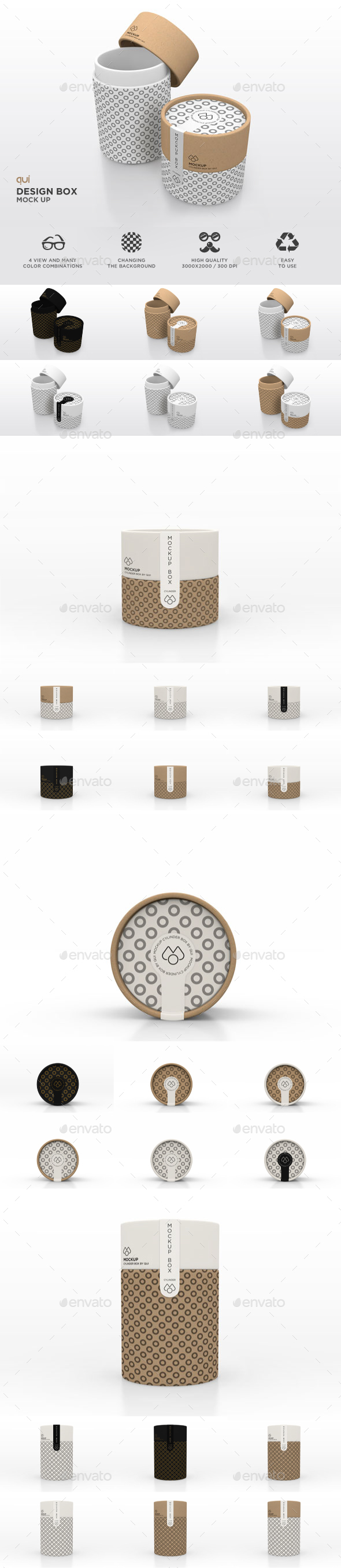 Packaging Mock Up - Paper Carton Tube
