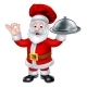 Santa Claus Chef Christmas Cartoon Character