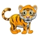 Tiger Animal Cartoon Character