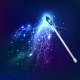 Magic Wand With Electric Discharge Effect