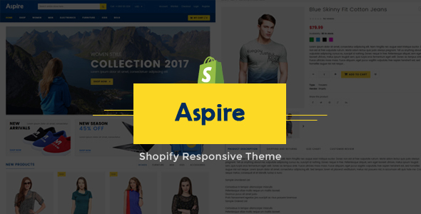 Aspire – Multipurpose Shopify Responsive Theme (Style)