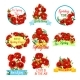 Spring Flower Bouquet Isolated Icon Set