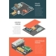Parking Isometric Banners Set
