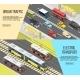 City Transport Banners Set