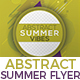 Abstract Summer Vibes/Sound/Night/Party Flyer