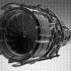Rotate Jet Engine Turbine