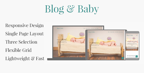 Blog & Baby - Responsive HTML Template For Baby Blogs