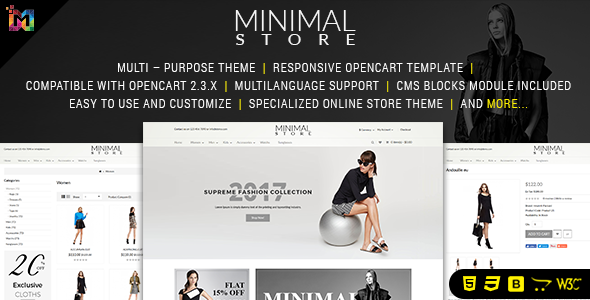 Minimal - Responsive OpenCart Theme