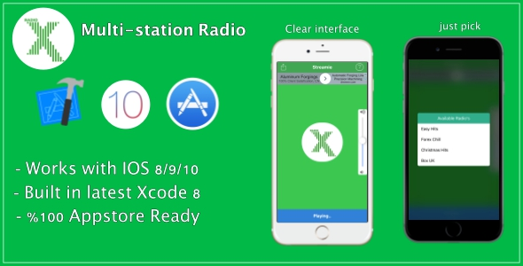 CodeCanyon Streamie Multi-station radio app 19993566