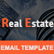 REAL ESTATE - Multipurpose Responsive Email Template With Stamp Ready Builder Access
