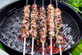 meat kebab skewers