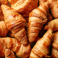 freshly baked croissant background