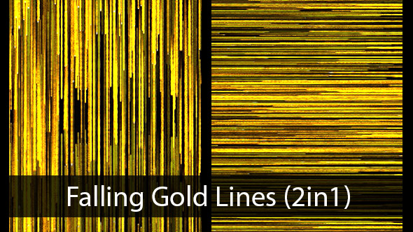 VideoHive Falling Gold Lines 2in1 19994453