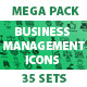 Business management icons.Mega Pack.
