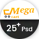 Megacart - Multi Purpose E-commerce PSD Template