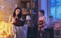 Family reading bedtime