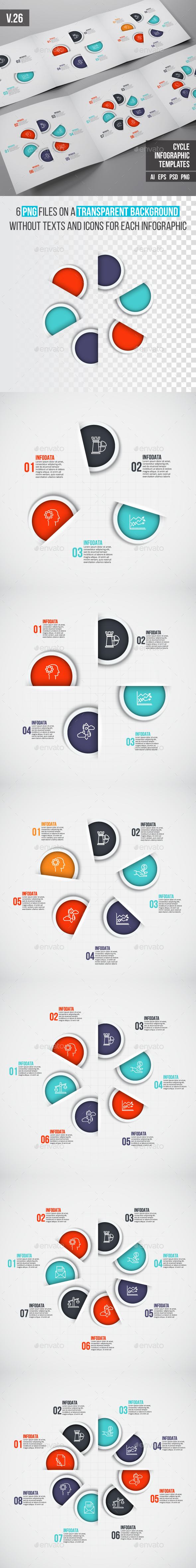 Infographics template set v.26