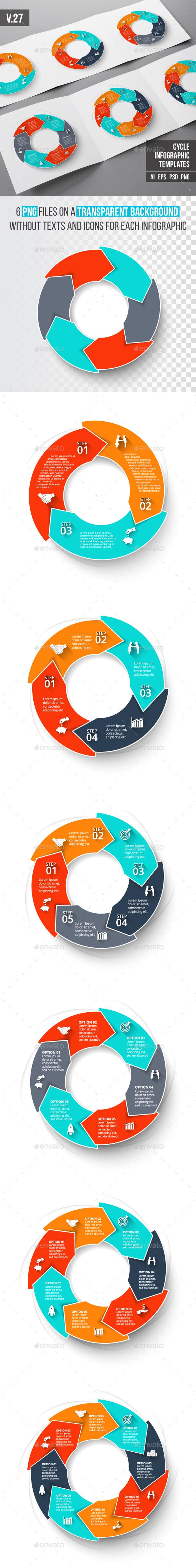 Infographics template set v.27