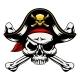 Skull and Crossed Bones Pirate
